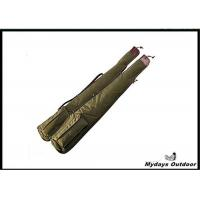 China 46'' Army Green Canvas Camo Gun Case Foam For Shotgun Nylon Coil Zipper on sale