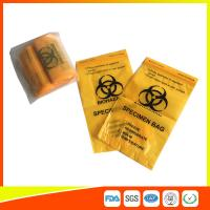 Best Laboratory Biohazard Specimen Transport Bags Reclosable 3/4 Layer Yellow Color wholesale