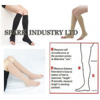 Cheap Knee High Medical Pregnancy Compression Stockings With Open Toe for sale