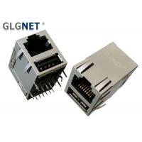 Best Magnetic Tab Up RJ45 Modular Jack RJ45 USB Connector With USB 2.0 Interface wholesale