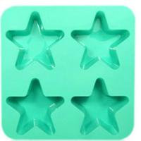 Best 4 holes star pentagram silicone cake mold, chocolate pudding mold wholesale