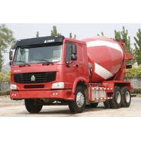 Cheap SINOTRUK HOWO 6X4 Red Concrete Mixer Trucks for sale