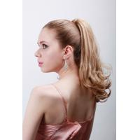 Best Custom Blond Hair Human Pony Tail Wigs And Extension For Ladies 5A Grade wholesale