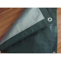 China 180gsm olive green/sliver ready made polyethylene tarpaulin on sale