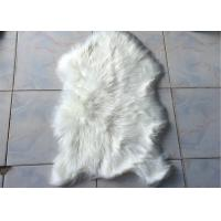 Best Room Decorative Large White Faux Fur Rug 2 * 3 Ft , Single Pelt Faux Fur Floor Rug wholesale