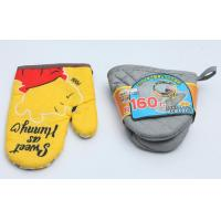 Best Colorful  Fireproof Oven Mitts , High Temp Oven Mitts Thickened Plain Design wholesale