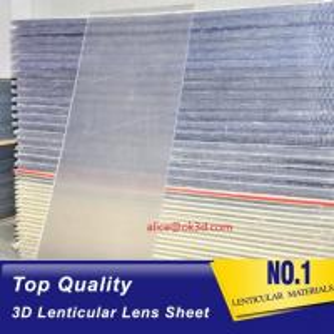 Best 20 LPI 3mm 120x240 lenticular flip  sheet forlarge format 3D lenticular printing with Flip effect printing Canada wholesale