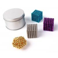 Best Colorful Coating Custom Neodymium Magnets , N35 Bucky Toy Neodymium Sphere Magnet wholesale