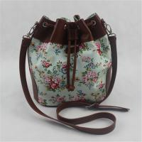 Best Calico Printing Canvas Women Tote Bags / Crossbody Shoulder Bags With Natural Material wholesale