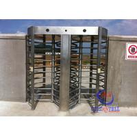 Cheap Factory Supply Security Full High Turnstile , Customize Full Height Turnstile With RFID / Biometric System wholesale
