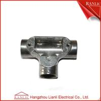 Cheap Aluminum EMT / IMC Conduit Junction Box Three Way Pipe Fitting Customized , for sale