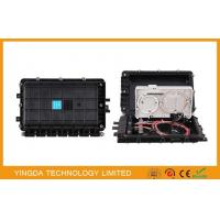 Black Inline fibre Optic Splitter Box , Hole - mounting 1*8 Fiber Optic Splice Closure ( FOSC )
