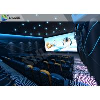 Best Special Effect  4D Cinema Equipment 120 People Electric System Motion Chairs Black Color wholesale