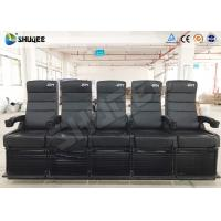 Best Luxury Motion Chair 5 Seats 4D Cinema System With Spray Air / Vibration wholesale