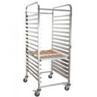 Buy cheap Stainless-steel baking tray trolley with 4 casters and 2 brakes for Kitchen tray from wholesalers