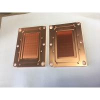 China Passivition / Nickel Plating Copper Base Plate Heat Sink Liquid Cooling Cold Plate For Servers on sale