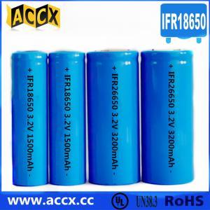 Cheap IFR18650 3.2V 1500mAh LED flashlight battery for sale