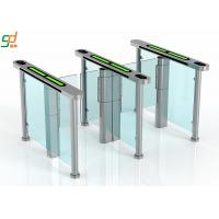 Best Slim Supermarket Swing Gate , Glass Turnstile Ul2593 Standard Servo Motor wholesale