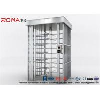 Best Deluxe Automatic Full Height Turnstile  Pedestrian System Parking Facilities Rotating Gate With 304# Stainless Steel wholesale