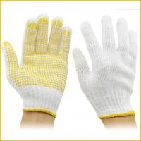 PVC dotted cotton gloves with rubber dimples for construction