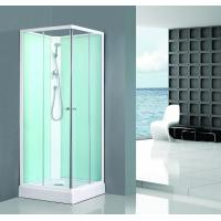 Best Square Bathroom All Glass Shower Enclosures PVC Middle Panel White Back Painting wholesale