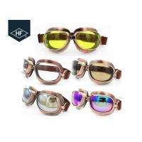 Best Copper Yellow Frame Aftermarket Motorcycle Accessories Metal Sunglasses wholesale