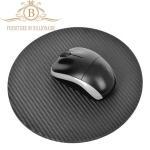 Best Round Shape Carbon Fiber Furniture Fashion Mouse Mat Black Color wholesale