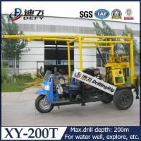 Best 200m trailer mounted hydraulic water well drilling rig machine XY-200T with drilling tower wholesale