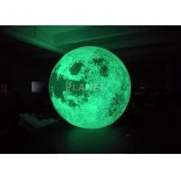 Best Colorful Changing Large Inflatable Moon Ball 3m Dia Customized wholesale