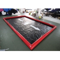 Best Red 0.9mm Pvc Tarpaulin Car Wash Water Containment wholesale