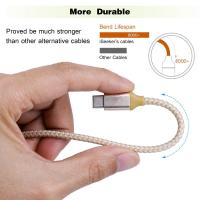 Best Short USB C to USB A Type C Charging Cable 1Ft Multicolors Nylon Braided wholesale