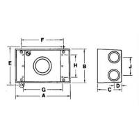 details of 3 holes one gang weatherproof junction box fsb box