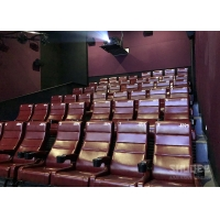 Best 12 HZ Vibration Rate Comfortable Red Cinema Seats in Special Effects With Cup Holder wholesale