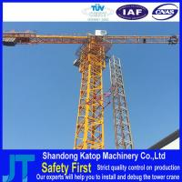 Buy cheap 6T 150m Maximum height QTZ80-6010 Double-gyration hoist tower crane from wholesalers