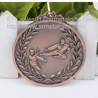 Best Antique bronze blank Karate medals wholesale, metal engraved karate sport medals, wholesale