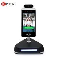 Best AI 8 Inch Infrared LCD Face Recognition Time Attendance System wholesale