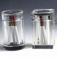 Crystal Holders for Tooth Picks, Smoke Tube and Living Goods, Customized Logos/Pictures are Accepted