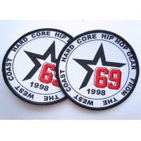 Best Rubber 3D Custom Clothing Patches Embosssed With Backing wholesale