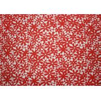 Best Red 47 Inches DTM Flower Embroidered Lace Fabric With African Cord Lace By Azo Free wholesale