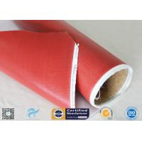 Best 1.5m Wide 0.45mm Silicone Coated Fiberglass Fabric 80g Single Side Chemical Resist wholesale