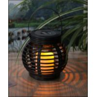 Best Customized Size Solar Garden Lights , Solar Mini Rattan Basket Round wholesale