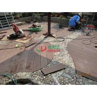 Best Wood Plastic Composite Decking Flooring , Maintenance Free Decking Natural Wood Texture wholesale