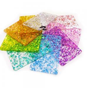 Best 100% Virgin PMMA Rigid Colorful Glitter Acrylic Sheet 2mm 3mm 5mm wholesale
