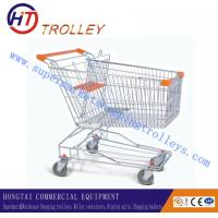 Cheap Lager Customized Supermarket Shopping Trolleys Cart Unfolded With Wheels wholesale