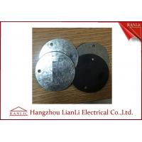 Cheap 0.5mm to 1.2mm Steel Round Conduit Junction Box Cover Pre - Galvanized 65mm Diameter for sale