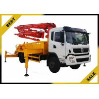 Best Minimizes Chatter Concrete Pump Car  , Concrete Mix Pumping Machine 25.2m Cing wholesale