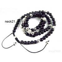 Best Shambhala Jewelry, Disco Ball Crystal Shamballa Necklace With Black Cord wholesale