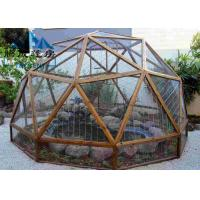 Best Easy Assembled Geodesic Dome Greenhouse Selectable Size Soft PVC Walls & Glass Walls wholesale
