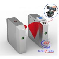 Best Popular 2D Qr Code Flap Barrier Gate With Software Sdk / Entrance Turnstile Security Gates wholesale