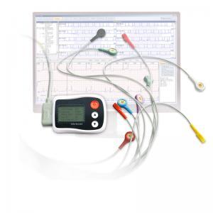 Digital 3 channel Holter ECG recorder , electrocardiogram equipment